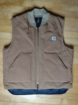 Carhartt VQ186 Canvas Quilted Lining Vest Men's XL Union USA Made  - $39.99