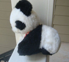 "Vintage 8"" Eden-MUSICAL-WIND-UP-PANDA-head-moves BLACK/WHITE plush toy - £30.09 GBP"