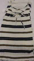 A Ellen cream color with multicolor stripes soft knit Strappy Tank Dress S - $13.00
