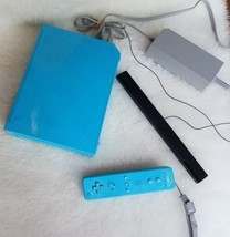 Blue Nintendo Wii Limited Edition Video Game  Console Wiimote Bundle -Te... - $54.23