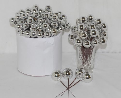 Unbranded Wholesale Lot 135 Silver Holiday Ball Pick Decoration
