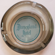 "Disneyland Hotel 4-1/4"" x 1"" tall Smoke Glass Ashtray - $14.95"
