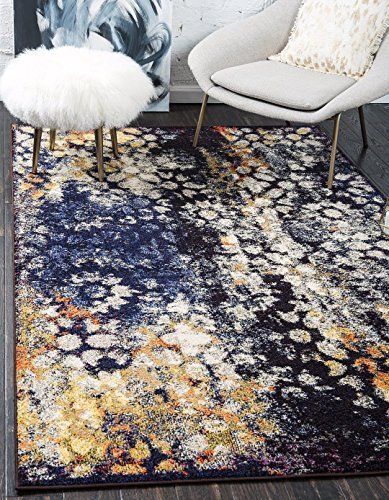 Used, A2Z Rug Modern Contemporary & Traditional Design Rugs, Navy Blue 4' x 6'-Feet Mi for sale  USA
