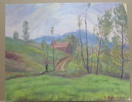 Painting Antique 900 Twentieth Century Emilia Romagna landscape oil On B... - $235.33