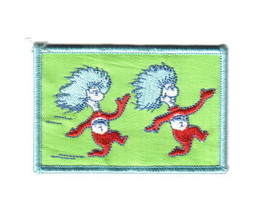 Dr. Seuss The Cat In The Hat Animated Things 1 & 2 Running Embroidered P... - $7.84