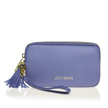 JOY & IMAN Tassel Chic Leather Wallet with RFID, Periwinkle - $29.69