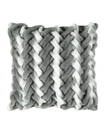 "NEW Parklane Gray Ombre Braided Decorative Pillow, 24"" x 24"" **FREE SHIP... - $47.99"