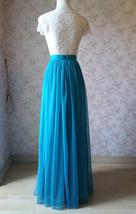 Blue Bridesmaid Tutu Skirt 2 Piece Outfit High Waisted A-Line Bridesmaid Skirt image 6