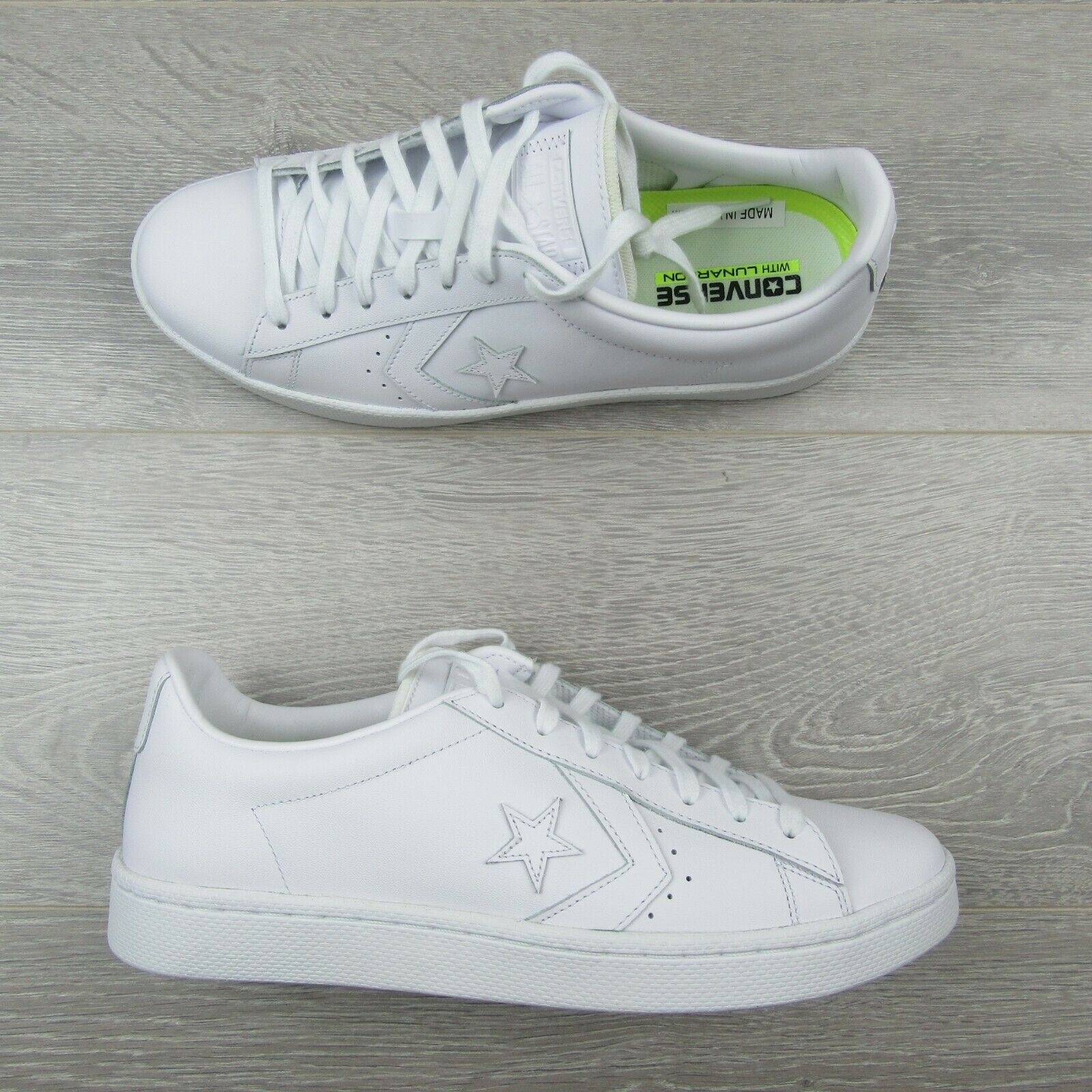 Converse Pro Leather Ox Low Triple White Shoes Size 11 Mens 155319C New image 3