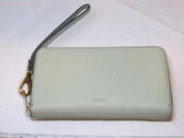 Fossil SL7151336 RFID Emma Smartphone Wristlet Lght Sage wallet clutch l... - $46.27