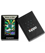 Zippo Lighter: Eye Design, Black Light - Black Matte - $33.20