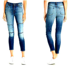 new J BRAND women jeans Jasper Patched JB001098 high rise crop 26 blue M... - $58.99
