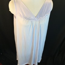 Vtg Vanity Fair Antron Nylon Short Nightgown Sleeveless Lavender Pastel ... - $28.71