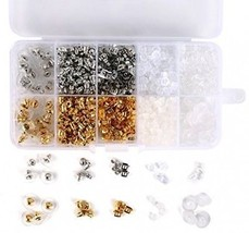 1040pcs Earring Backs, BetyBedy 10 Styles Earring Backings Kit, Metal P... - $10.35