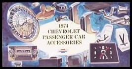 1974 Chevrolet Chevy Accessories Accessory Sales Brochure Original GM 74 - $9.03