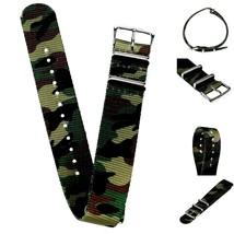 20mm X 255mm Nato Canvas Nylon wrist watch Band strap ARMY CAMO P2 - $11.73