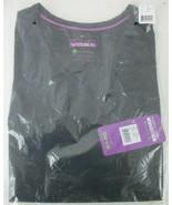 Purple Label Yoga 2245 V-Neck Scrub Top - Black Size Small  - $22.72