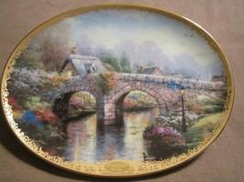 LAMPLIGHT BRIDGE collector plate THOMAS KINKADE Lamplight Village - $19.99