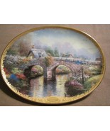 LAMPLIGHT BRIDGE collector plate THOMAS KINKADE Lamplight Village - $19.99