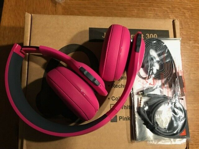 JBL Everest 300 Pink On-ear Wireless Headphones-Manufacture Refurbished