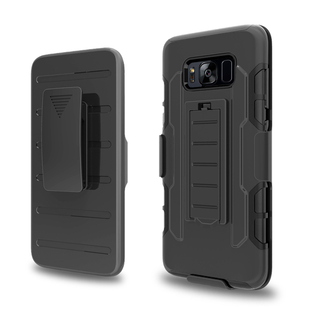 Armor Hybrid Impact Matte Case Belt Clip Holster Cover For Samsung Galaxy S8