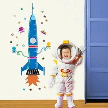 Uniquebella Rocket Stickers Growth Charts Wall Decor Wall Art Decals Removable - $34.53