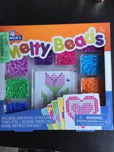 Elmer's Melty Beads Fun Kit 5000 Beads Template Peg Board Ironing Paper ... - $9.99