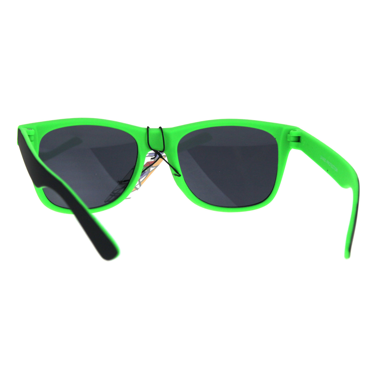 Kids Child Size Classic Pop Color Matte 2 Tone Horn Rim Sunglasses