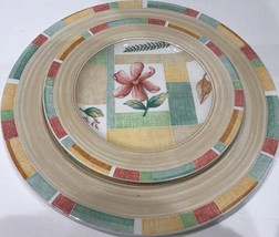 """Sango """"GARDEN CAFE"""" 2 Piece Place Setting Service For 1 By Erica Friedman # 3048 - $21.77"""