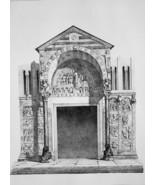 ITALY Verona Portico of Saint Zenon - SUPERB 1843 Antique Print - $39.60