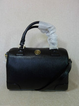 NWT Tory Burch Classic Black Saffiano Leather Robinson Middy Satchel $575 - $453.42