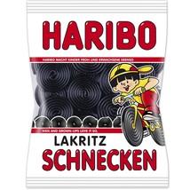 HARIBO of Germany: Lakritz Schnecken /Licorice snails gummy bears-200g- - $4.50