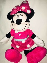 "Disney Minnie Mouse Plush Pink Polka Dot  Stuffed Animal Doll 15"" - $10.55"