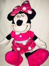 "Disney Minnie Mouse Plush Pink Polka Dot  Stuffed Animal Doll 15"" - $10.55"