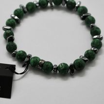 Silver Bracelet 925 with Hematite and Jasper BWI-1 Made in Italy by Maschia image 4