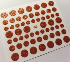 Bang Store Nail Art 3D Decal Stickers Glittery Red Polka Dots Circles Cute - $2.12