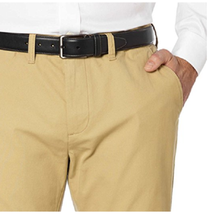 Tommy Hilfiger Men's Tailored Fit Flat Front Chino Pants Incense Color 3... - $24.00