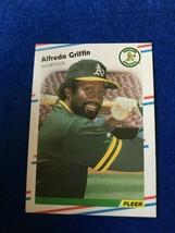 Baseball Trading Card Fleer 1988 #280 Alfredo Griffin (SS63) - $4.17