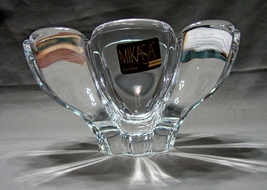 "Mikasa Zinnia 6"" Crystal Bowl ~Candy Dish Made in Austria Daisy - $5.99"