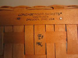 Vintage 1996 Longaberger Christmas Collection 1996 Edition Holiday Cheer Basket image 7