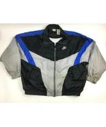 Vtg 90s NIKE Colorblock SWOOSH Nylon WINDBREAKER Jacket Zip XXL Aestheti... - $54.45