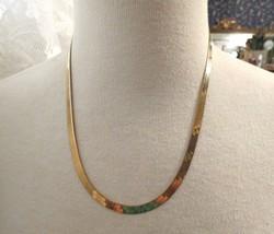 "14k Herringbone Chain Milor Necklace 20"" Long 11.56g Italy 5mm NICE Yell... - $539.05"