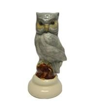 Vintage Ceramic Owl Figurine Gray - $10.70