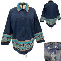 Denim & Co Women's Blue jacket coat blazer Lined Plus Size 1X - $24.75