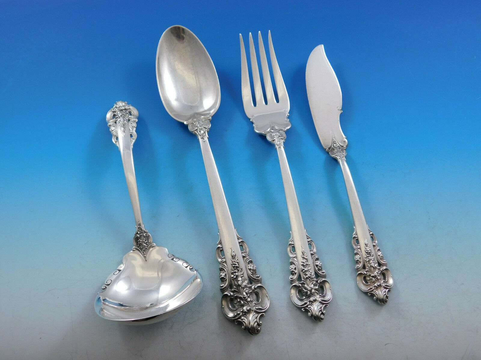 Grande Baroque by Wallace Sterling Silver Essential Serving Set Large 4-piece - $395.00