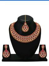 Kundan Indian Traditional Wedding Gold Plated Choker Jewelry Necklace Ho... - $25.52