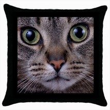 Throw pillow case cover cartoons tabby cat - $19.50