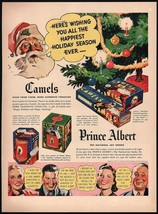 Vintage magazine ad CAMELS and PRINCE ALBERT from 1937 picturing Santa C... - $12.99