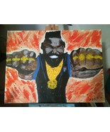 I PITY THE FOOL!  MR. T. 80's MAN CAVE ACRYLIC PAINTING. ARTIST DIRECT!!... - $142.45
