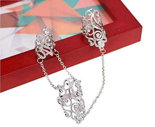 Fashion Personality Bracelet Jewelry Finger Rings And Chains, Silver Pattern